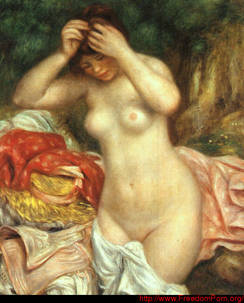 File:Pierre-Auguste Renoir - Bather Arranging Her Hair.jpeg